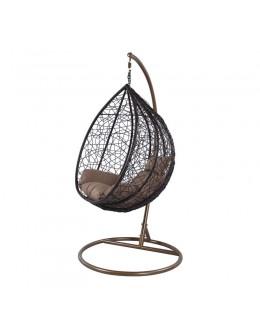 Κρεμαστή πολυθρόνα καφέ 103Χ117