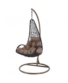 Κρεμαστή πολυθρόνα καφέ 80Χ126