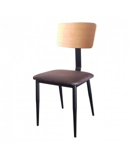 Καρέκλα μεταλλική 336Τ ελληνικής κατασκευής με ταπετσαρία