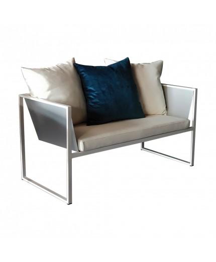 Μεταλλικός διθέσιος καναπές Νο355 ελληνικής κατασκευής