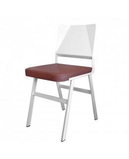 Καρέκλα μεταλλική 389Τ ελληνικής κατασκευής με ταπετσαρία