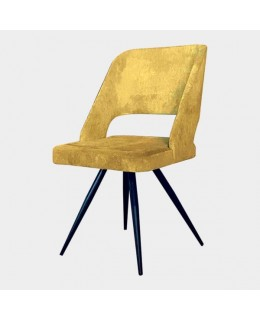Καρέκλα μεταλλική 439 ελληνικής κατασκευής με ταπετσαρία