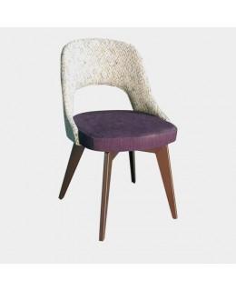 Καρέκλα μεταλλική 441 ελληνικής κατασκευής με ταπετσαρία
