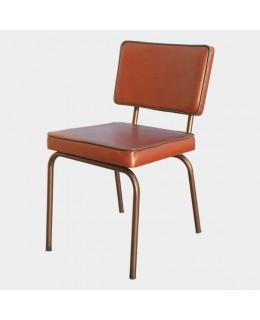 Καρέκλα μεταλλική 466 ελληνικής κατασκευής με ταπετσαρία