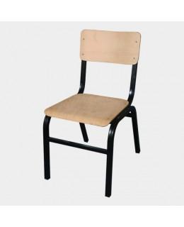Καρέκλα 468 ελληνικής κατασκευής από μέταλλο και ξύλο