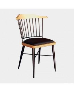 Καρέκλα μεταλλική 537 με ταπετσαρία