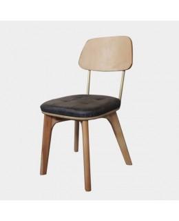 Καρέκλα μεταλλική με ταπετσαρία