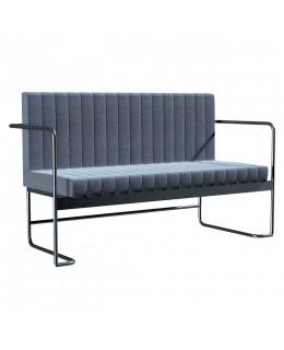 Μεταλλικός καναπές 2θέσιος Νο628-993 ελληνικής κατασκευής με μαξιλάρια