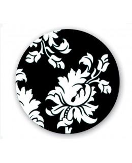 Επιφάνεια τραπεζιού σε λευκό/μαύρο Φ60