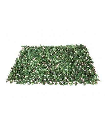 Συνθετική φυλλωσιά πράσινο σκούρο με ξύλινο πτυσσόμενο πλέγμα 100Χ200