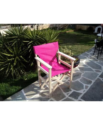Καρέκλα σκηνοθέτη,Ελληνικής προέλευσης από οξιά βαρειάς κατασκευής