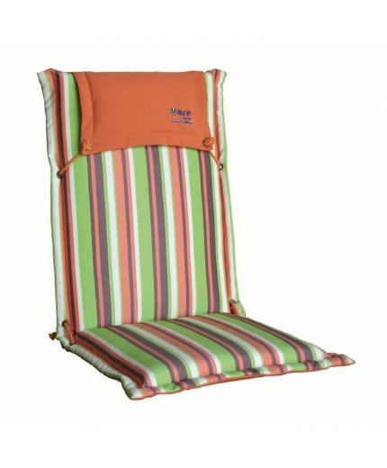 Μαξιλάρι πολυθρόνας με ψηλή πλάτη ριγέ