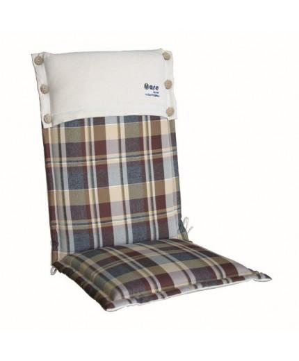 Μαξιλάρι με ψηλή πλάτη καρό