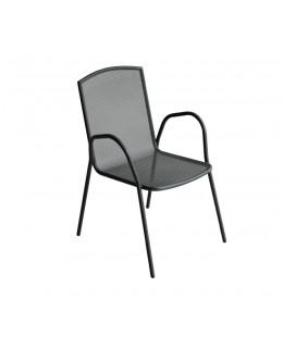 Μεταλλική πολυθρόνα σε ανθρακί ή λευκό