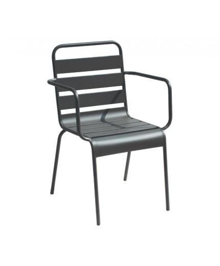 Πολυθρόνα μεταλλική ανθρακί