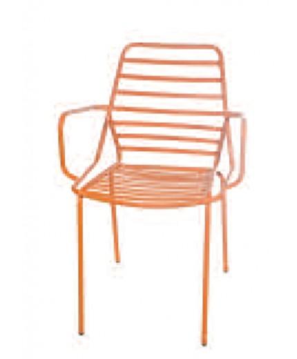 Καρέκλα μεταλλική με μπράτσο