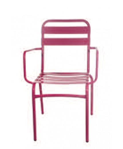 Μεταλλική καρέκλα με μπράτσο