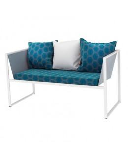Μεταλλικός διθέσιος καναπές με μαξιλάρι