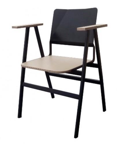 Πολυθρόνα μεταλλική με ξύλο