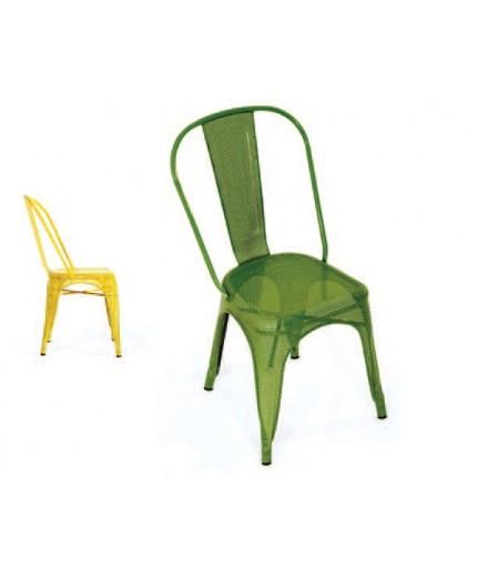 """Μεταλλική καρέκλα """"τρυπητό σχέδιο"""""""