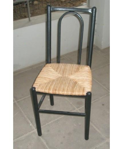 Μεταλλική καρέκλα παραδοσιακή με ψάθα