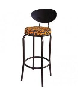 Σκαμπό μπαρ με υφασμάτινο κάθισμα
