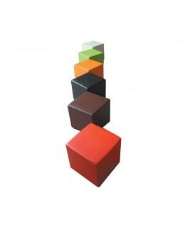 Σκαμπό δαπέδου κύβος σε διάφορα χρώματα