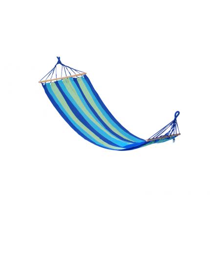 Αιώρα πάνινη σε ριγέ λαχανί-μπλε-σιελ 80Χ200cm
