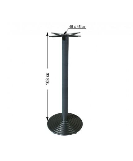 Βάση για τραπέζι σιδερένια ψηλή 108εκ. ύψος