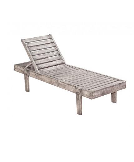 Ξαπλώστρα ξύλινη σε λευκό χρώμα