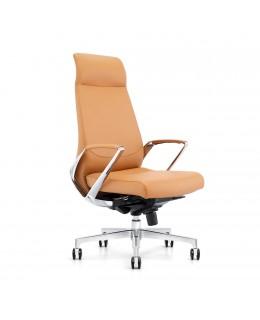 Καρέκλα Γραφείου JL-1517A Μαύρο & Ταμπά Τεχνόδερμα