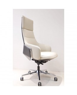 Καρέκλα Γραφείου JL-1801A-1 Σε Μαύρο & Ταμπά Τεχνόδερμα