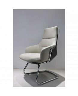 Καρέκλα Επισκέπτη JL-1801C-1 Σε Μαύρο & Ταμπά Τεχνόδερμα