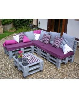 Μαξιλάρια για καναπέ παλέτα.